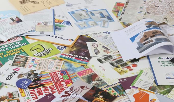 Depliant, brochure, cataloghi e volantini